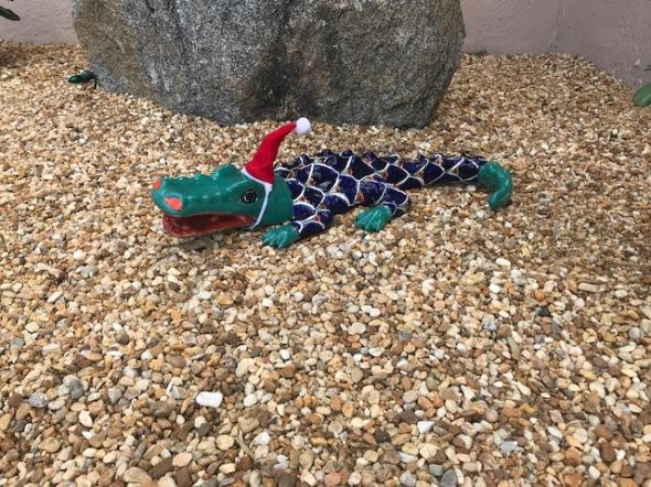 xmas aligator